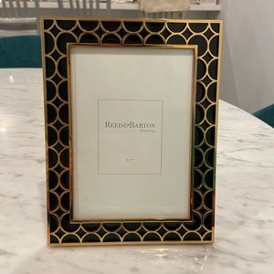 Reed&Barton gold and black picture frame